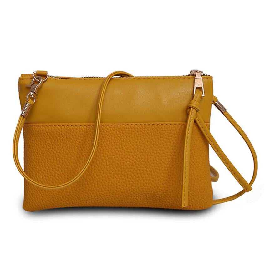 Shoulder Handbag with Zipper