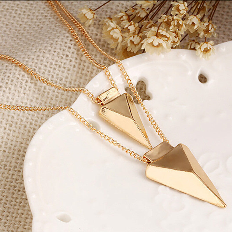 Double Triangle Pendant Chain