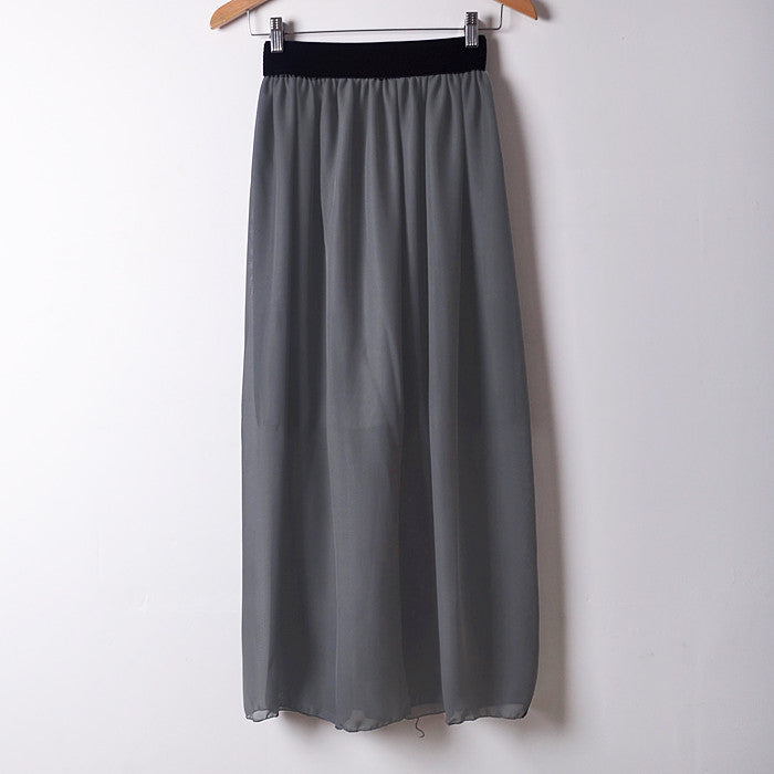 Chiffon Long Skirt