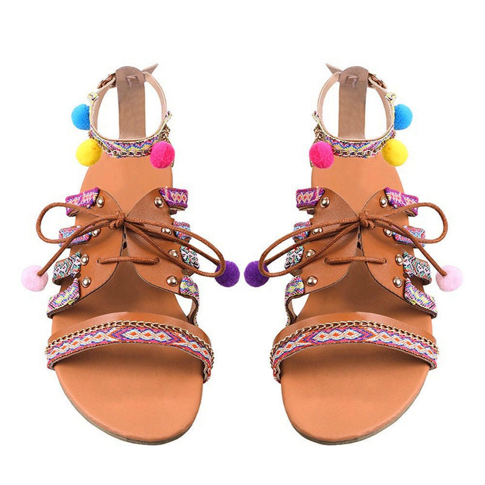 Bohemia Multi Color Flat Sandals