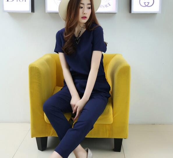 Crew Neck Jumpsuit