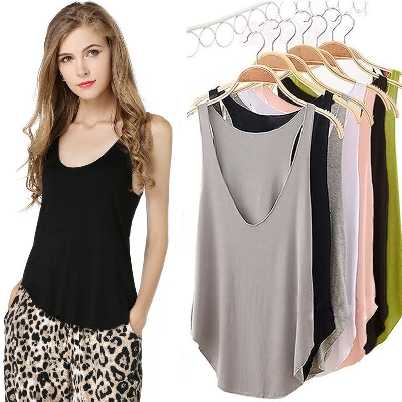 Sleeveless V neck Tops