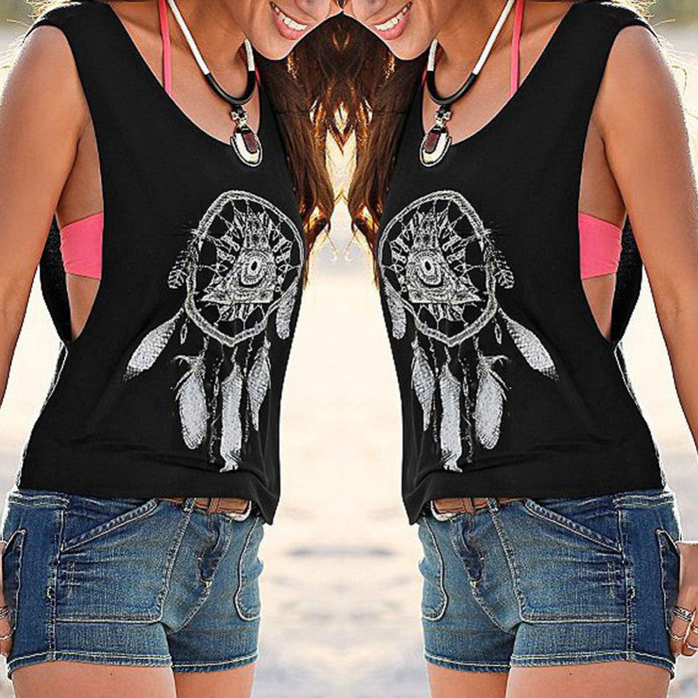 Sleeveless Print Tank Top