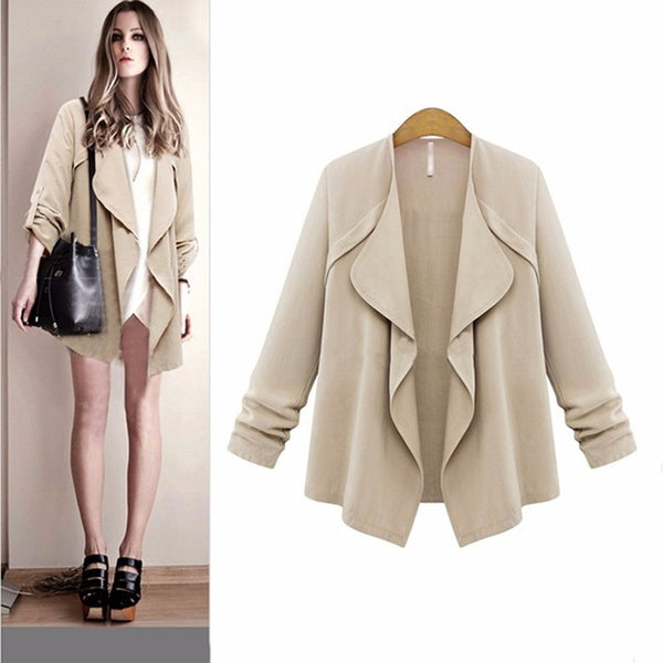 Plus Size! Long Sleeve Casual Jacket