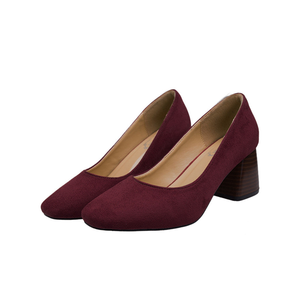 Suede High Heel Pumps