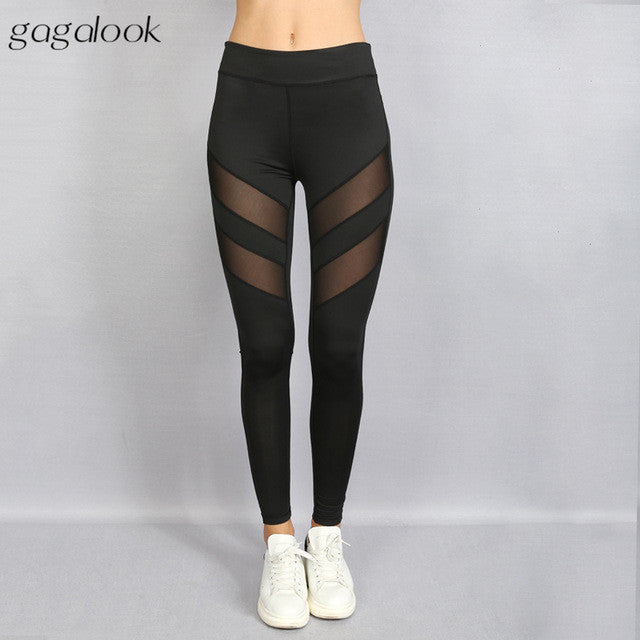 Mesh Strips Leggings