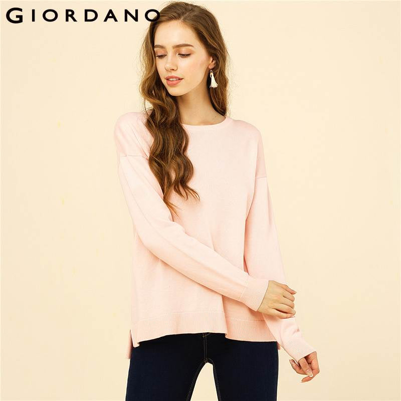 Long Sleeves Crewneck Sweater W