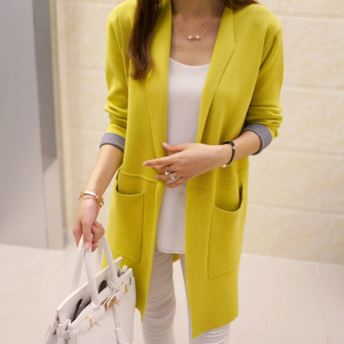 Long Sleeve Heavy Cardigan Coat