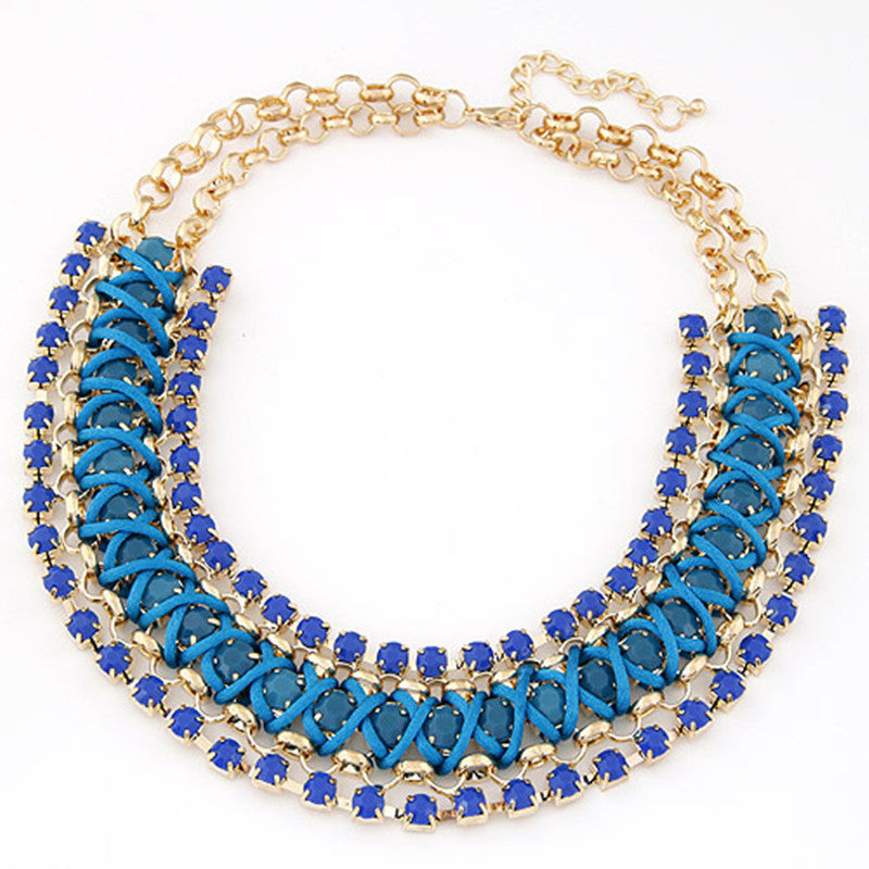 Big Crystal Statement Necklace