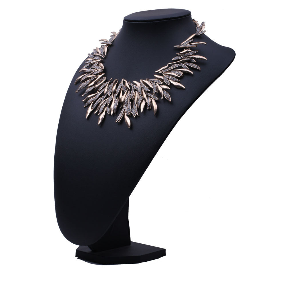Feather Style Statement Necklace