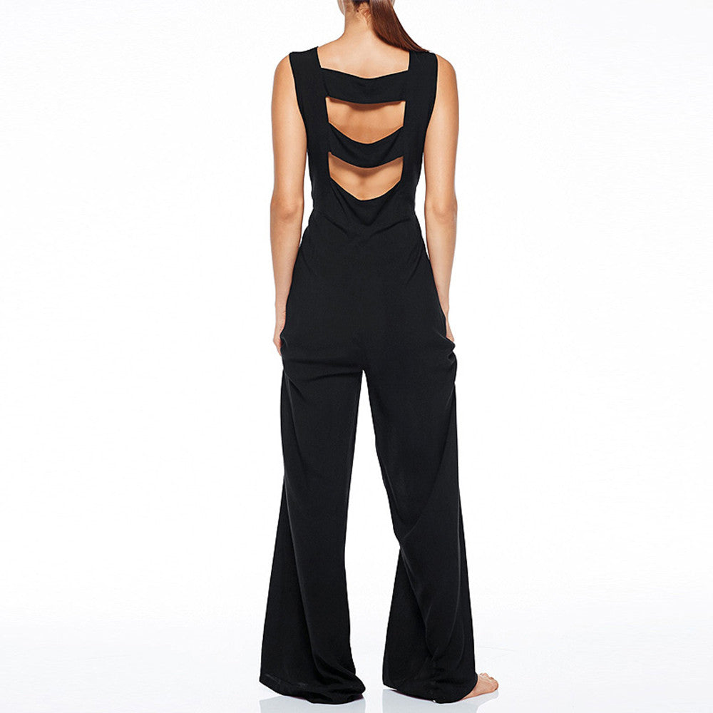 Wide Leg Crew Neck Jumpsuit