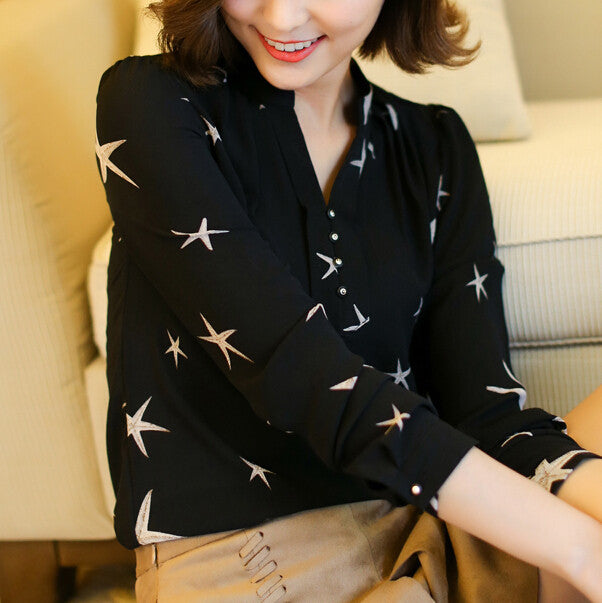 Long Sleeve Chiffon Shirts