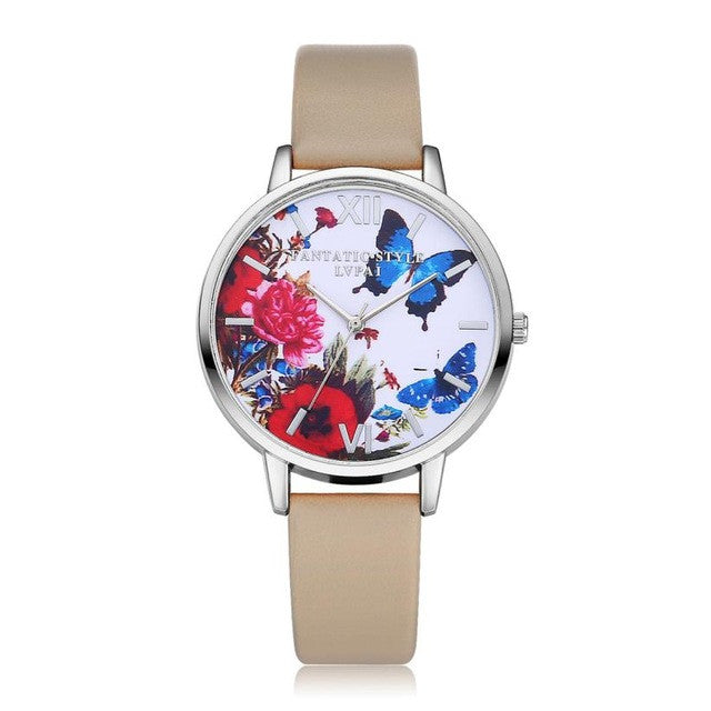 Butterfly Print Wrist Watch