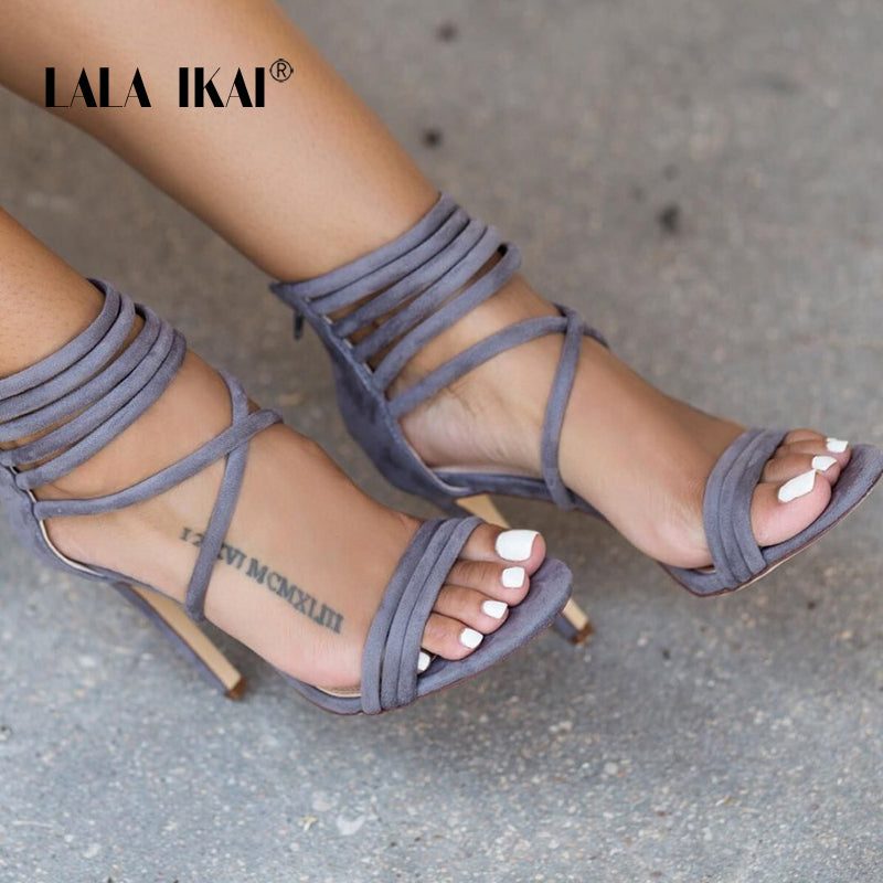 High Heels  Ankle-Wrap Open Toe Sandals