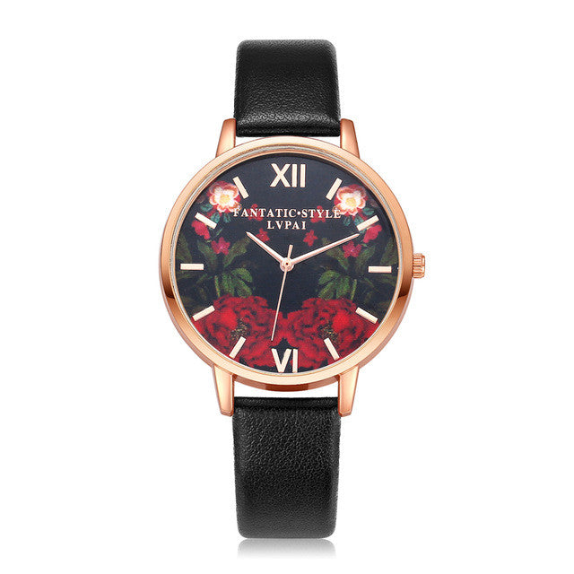 Floral Print Wrist Watches