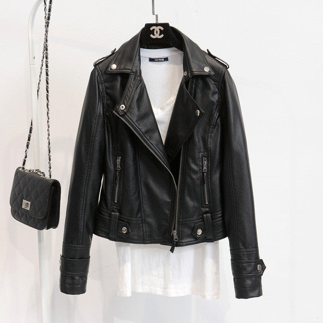 Motorcycle Faux Leather Jacket