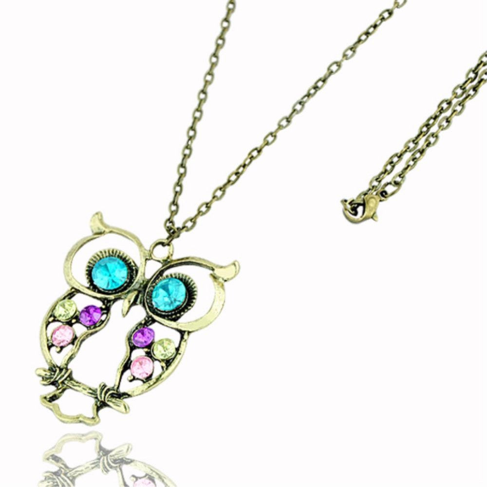Long Owl Chain Necklace