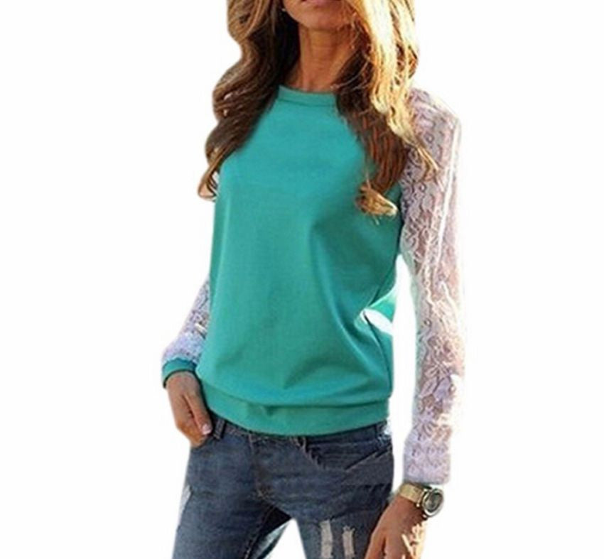 Lace Sleeve Tops