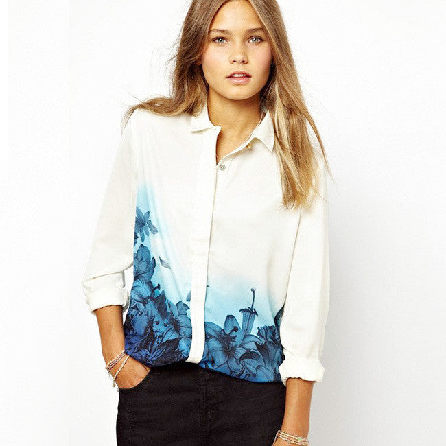 Long Sleeve Flower Shirt