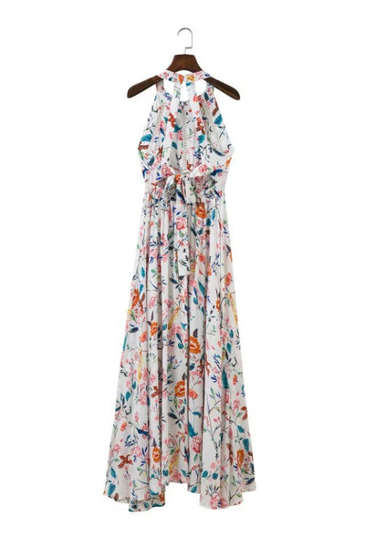 Best Seller! Floral Halter Neck Maxi Dress