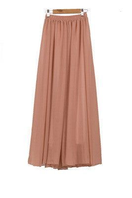 Chiffon Pleated Long Skirt