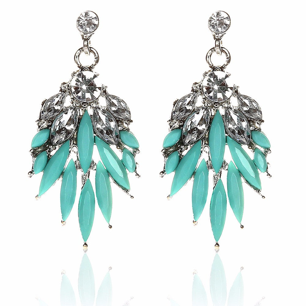 Bohemian Style Crystal Earrings