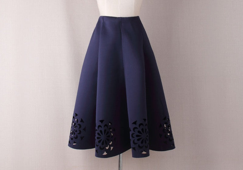 High Waist Crochet Skirt