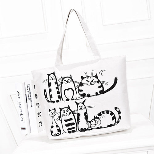 Cat Printing Tote Bag