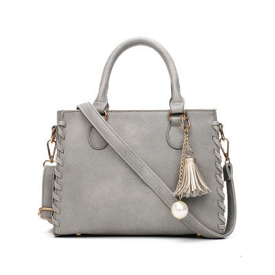 Suede High Quality Tassel Bag