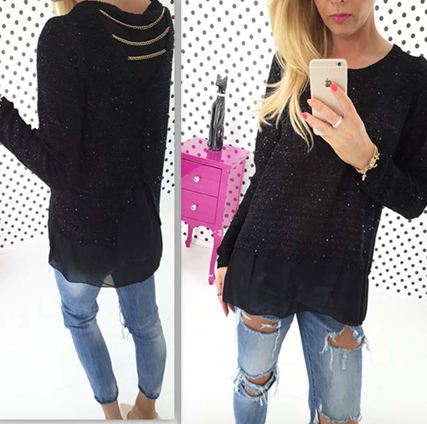 Glittering Knitted Sweaters