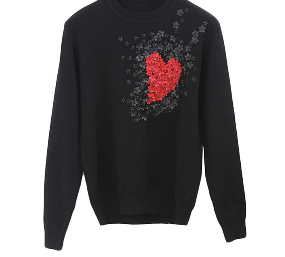 Heart Flowers Sweater
