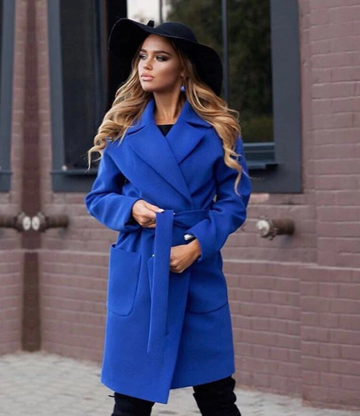 Down Collar Long Wool Coat