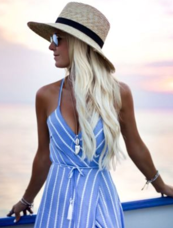 Striped Halter Neck Dress