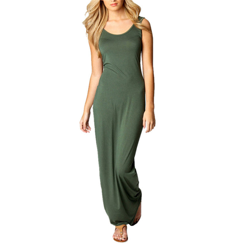Scoop Neck Basic Maxi