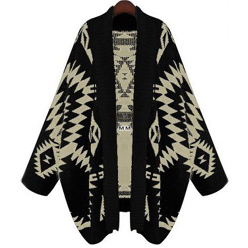 Native American Print Cardigan