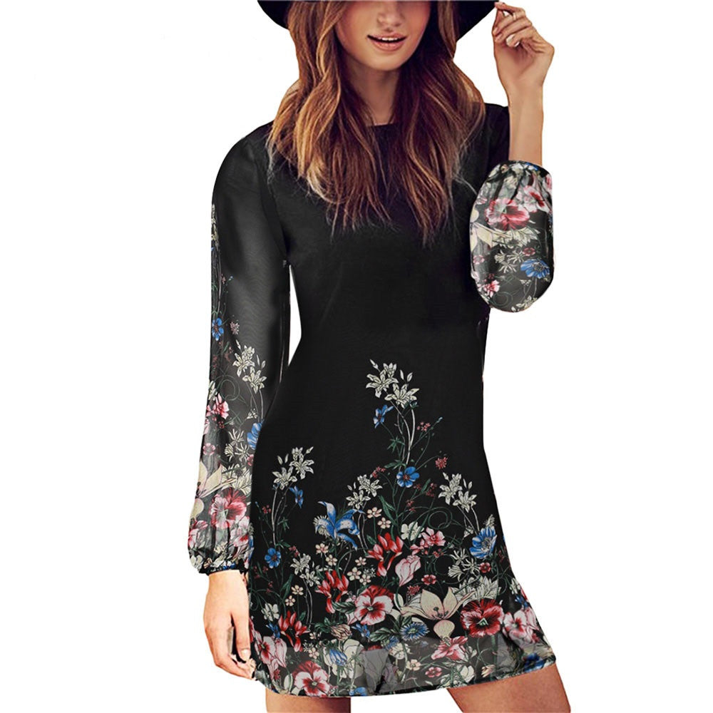 Floral Short Shift Dress