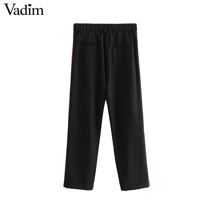 Side Striped Ankle Length Trousers