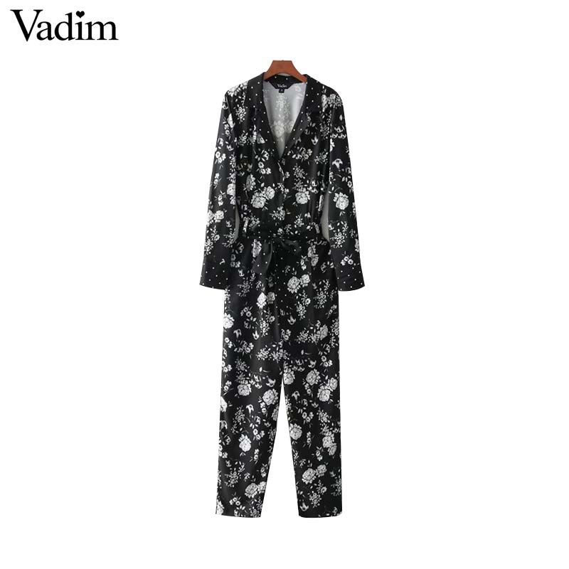 V neck floral Jumpsuits