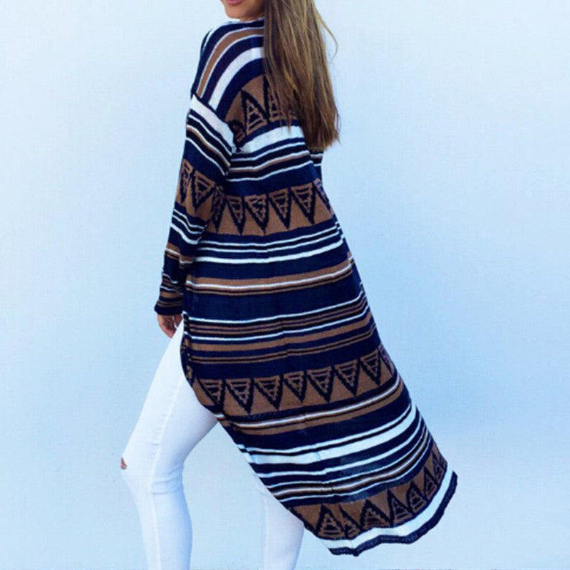 Pattern Long Cardigan