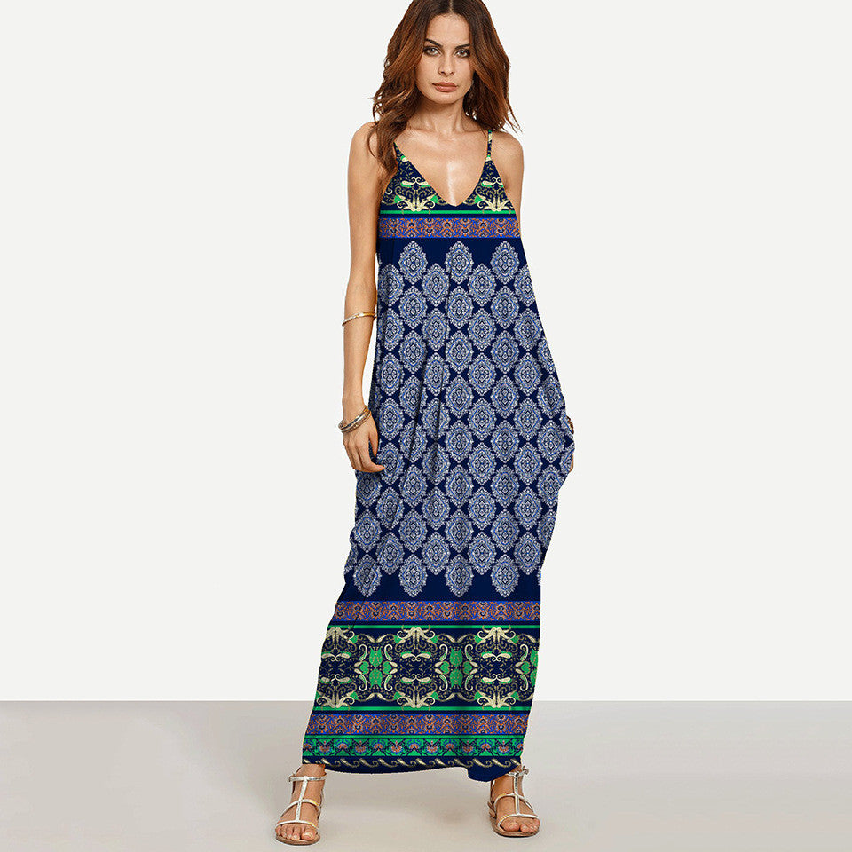 Best Seller! Boho Sleeveless Printed Dress