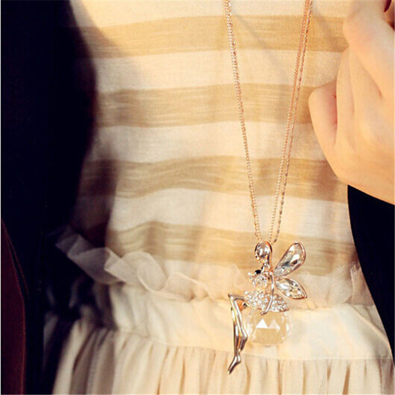 Crystal Wing Angel Necklace