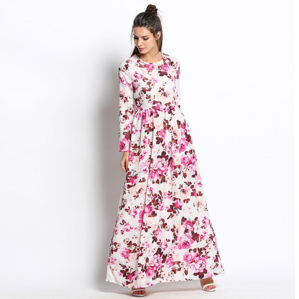 Long Sleeve Floral Maxi Dress