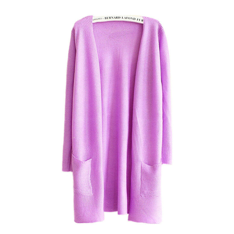Heavy Knitwear Long Cardigan