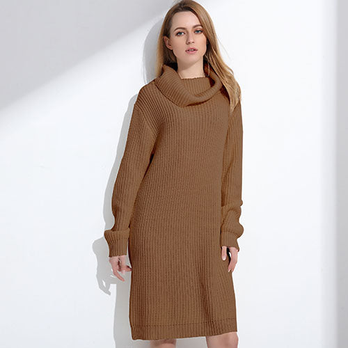 Cowl Neck Long Long Sweater