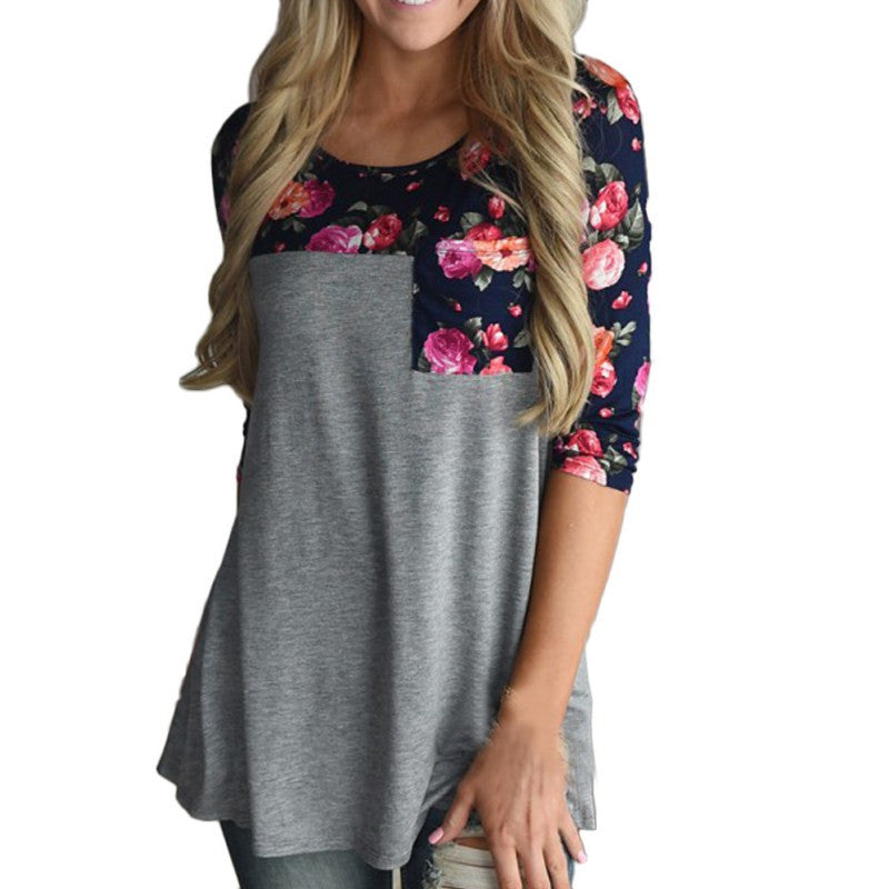 Casual Floral Summer Tops