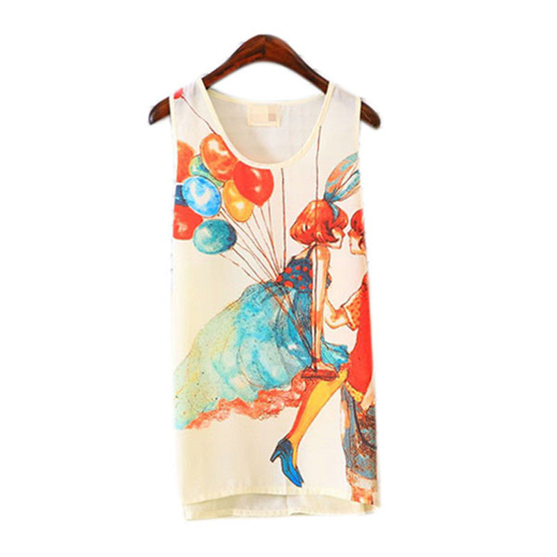 Printed Sleeveless Tanks