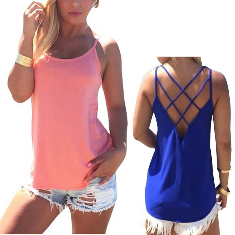 Sleeveless Tank with Strap