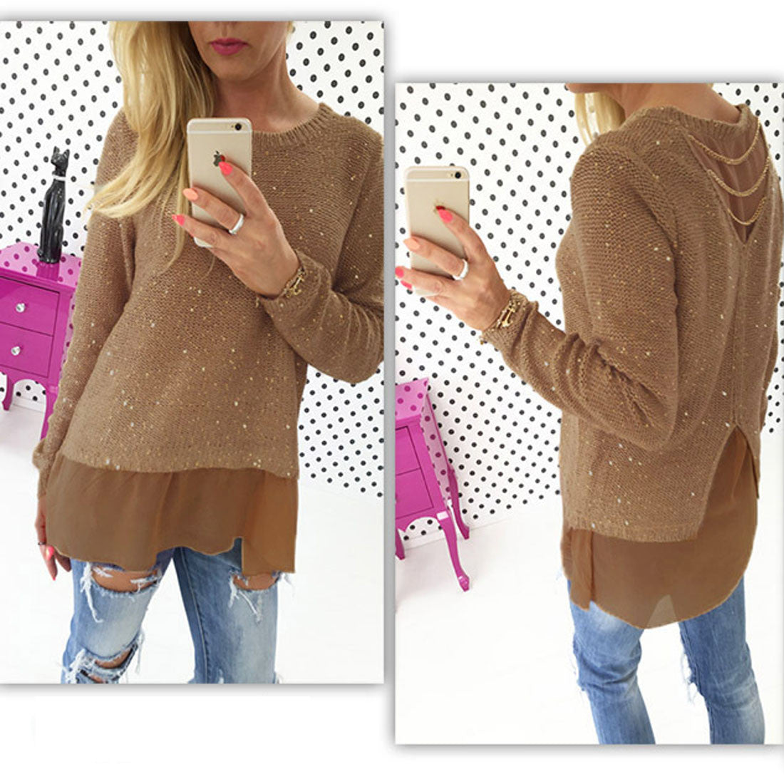 Chiffon Double Layer Blouse