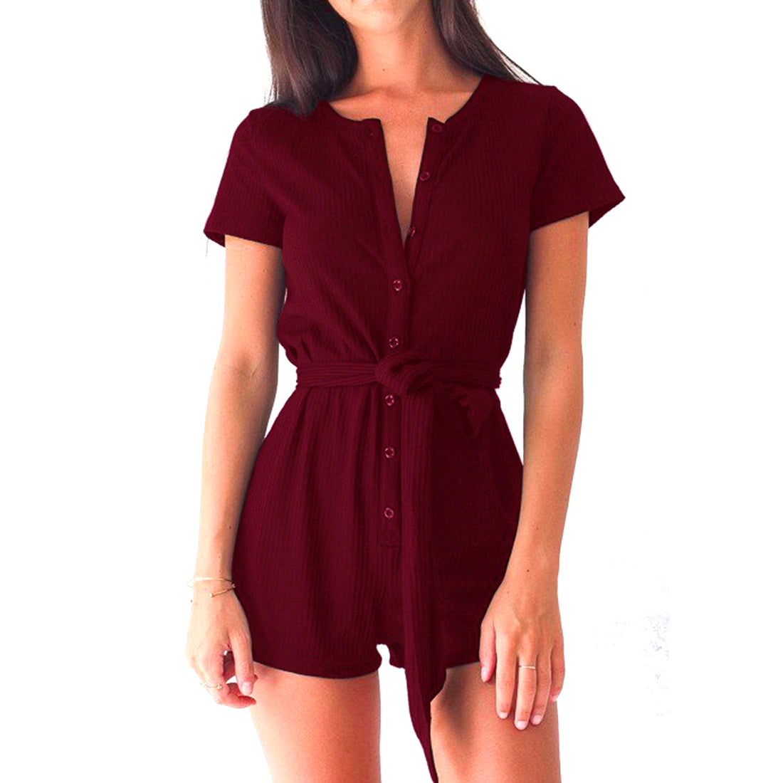 Best Seller! Short Sleeve V-neck Rompers