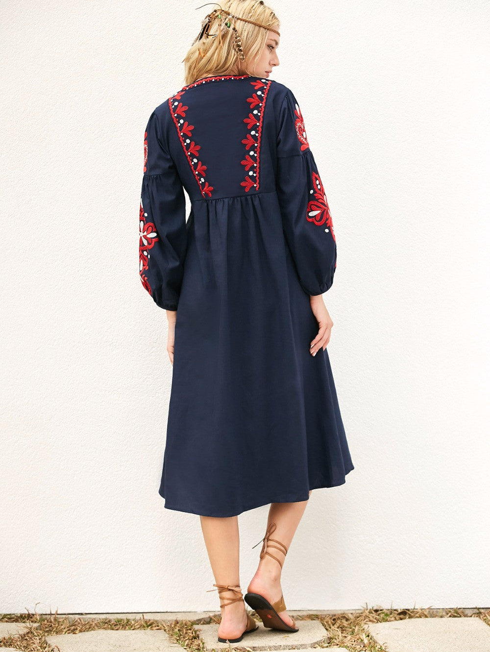 Best Seller! Floral Embroidery Tassel Dress